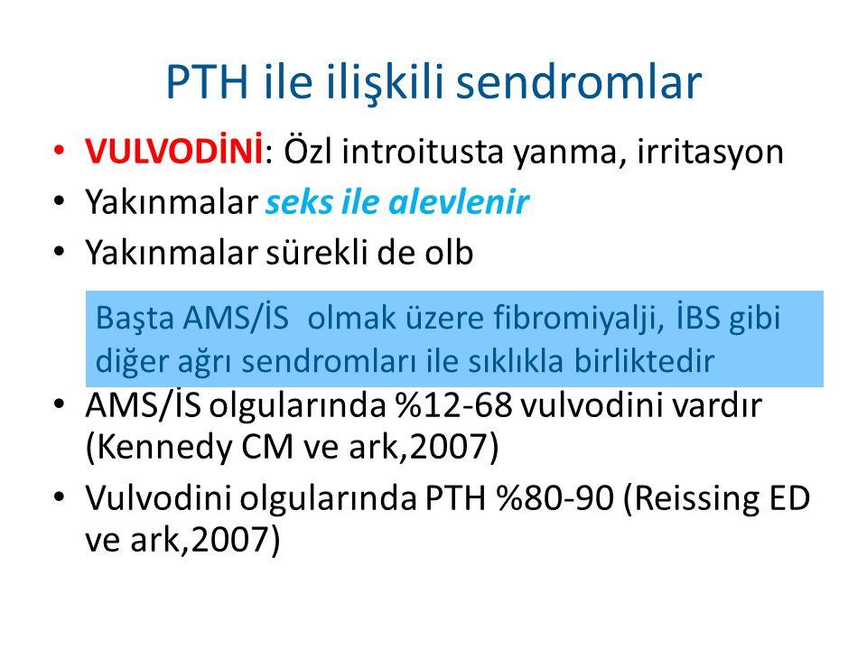 PTH ile ilişkili sendromlar