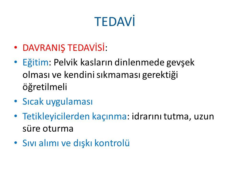TEDAVİ DAVRANIŞ TEDAVİSİ: