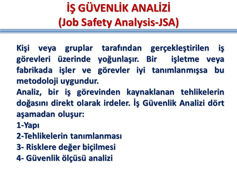 (Job Safety Analysis-JSA)