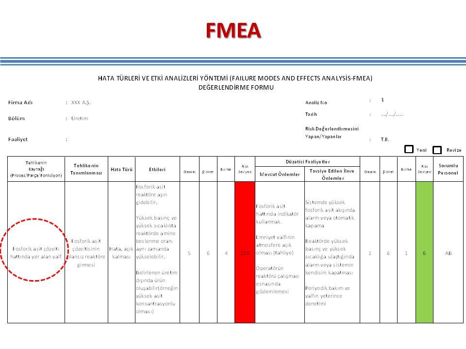 FMEA Fonksiyonu, hata nedeni