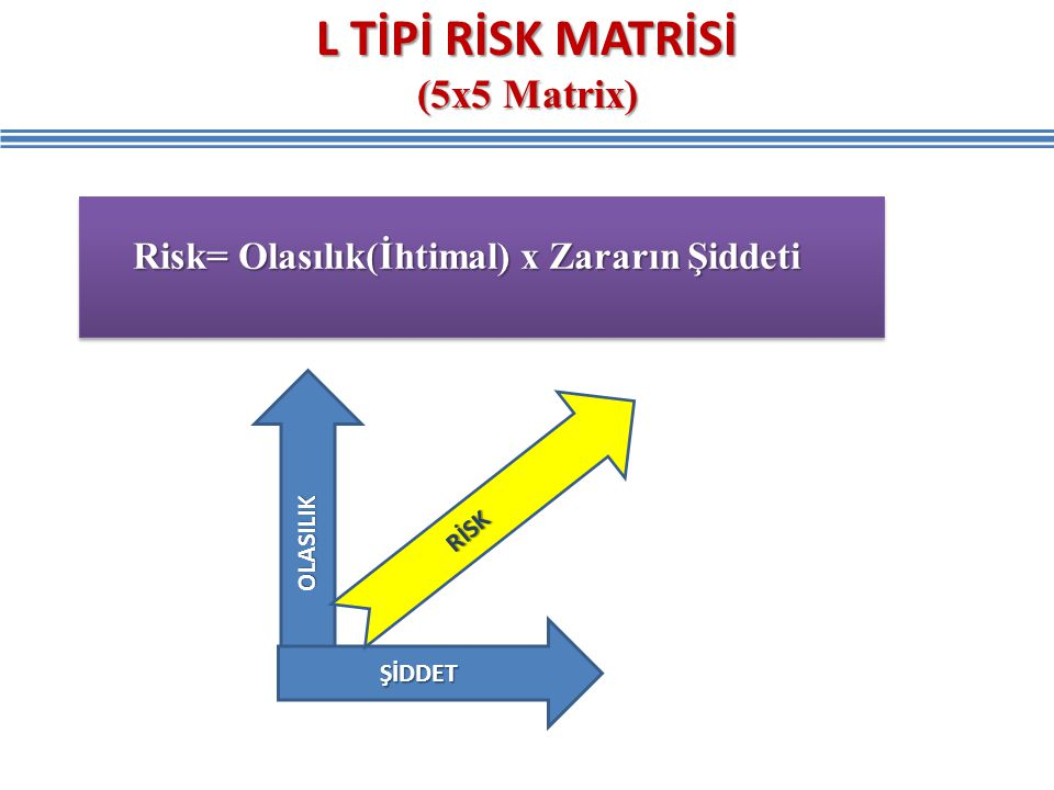 L TİPİ RİSK MATRİSİ (5x5 Matrix)