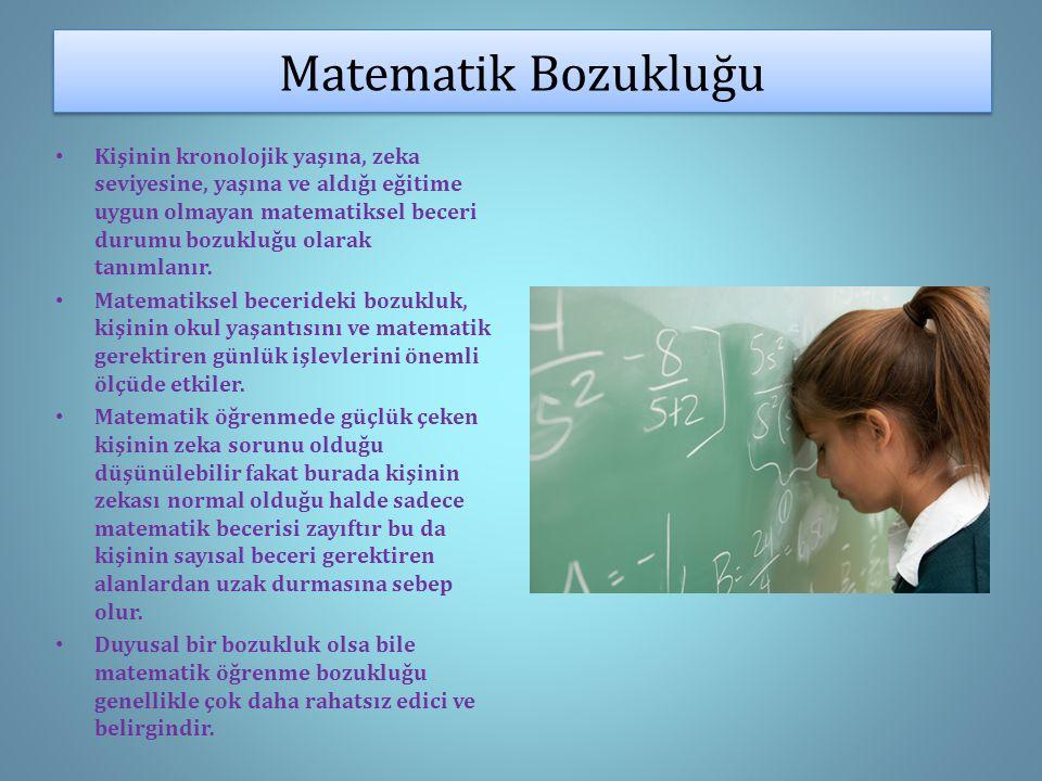 Matematik Bozukluğu