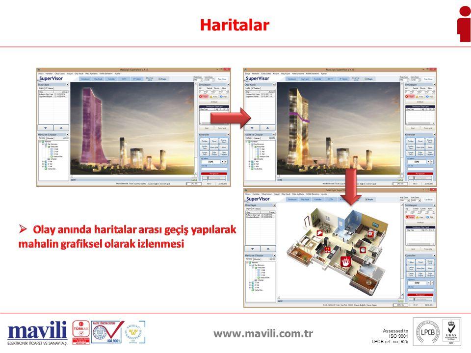 Haritalar Olay anında haritalar arası geçiş yapılarak mahalin grafiksel olarak izlenmesi. www.mavili.com.tr.
