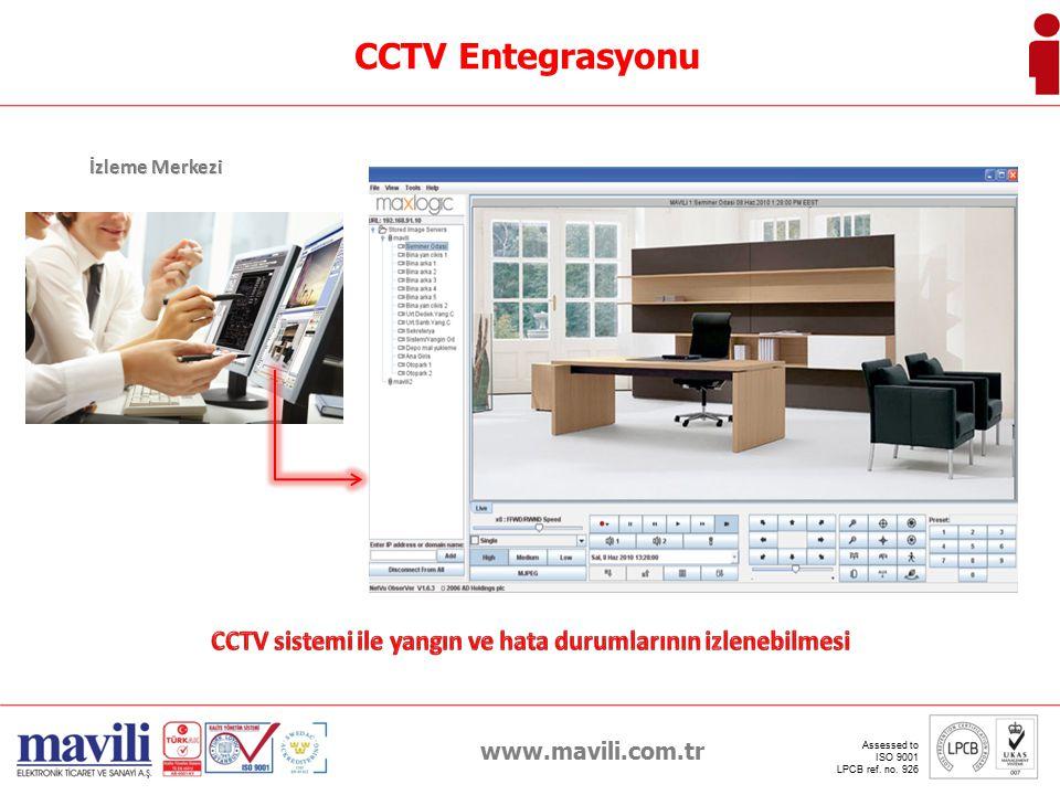 CCTV sistemi ile yangın ve hata durumlarının izlenebilmesi