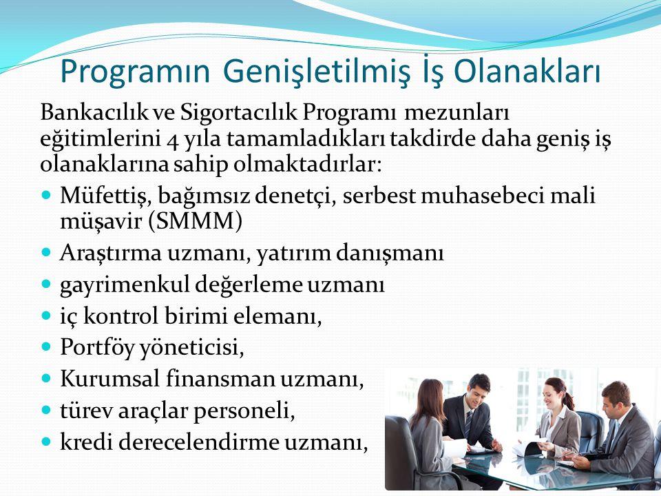 Programın Genişletilmiş İş Olanakları