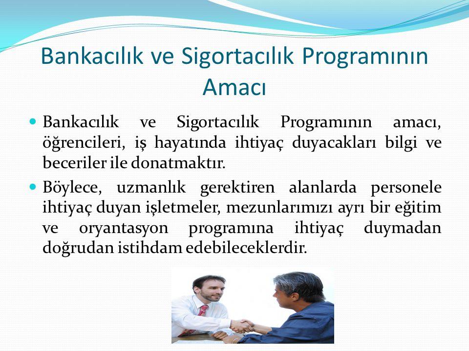 Bankacılık ve Sigortacılık Programının Amacı
