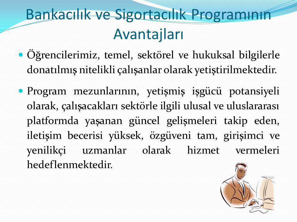Bankacılık ve Sigortacılık Programının Avantajları
