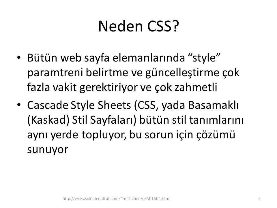 Neden CSS Bütün web sayfa elemanlarında style paramtreni belirtme ve güncelleştirme çok fazla vakit gerektiriyor ve çok zahmetli.