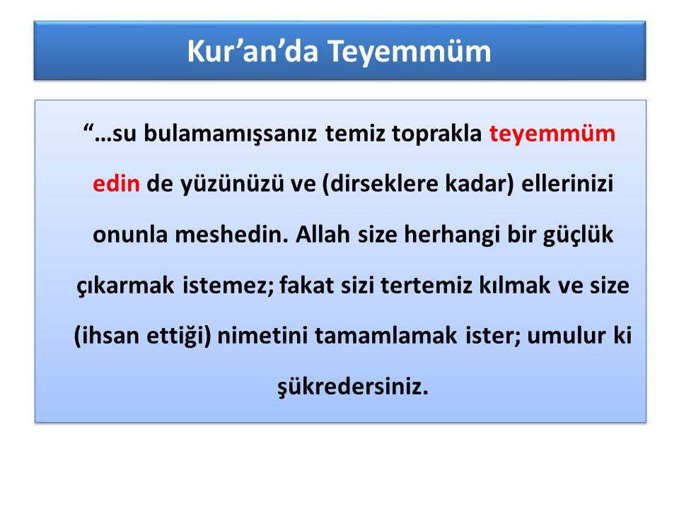 Kur'an'da Teyemmüm