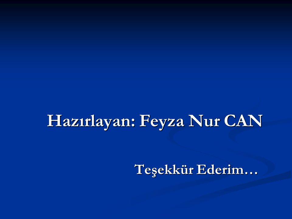 Hazırlayan: Feyza Nur CAN