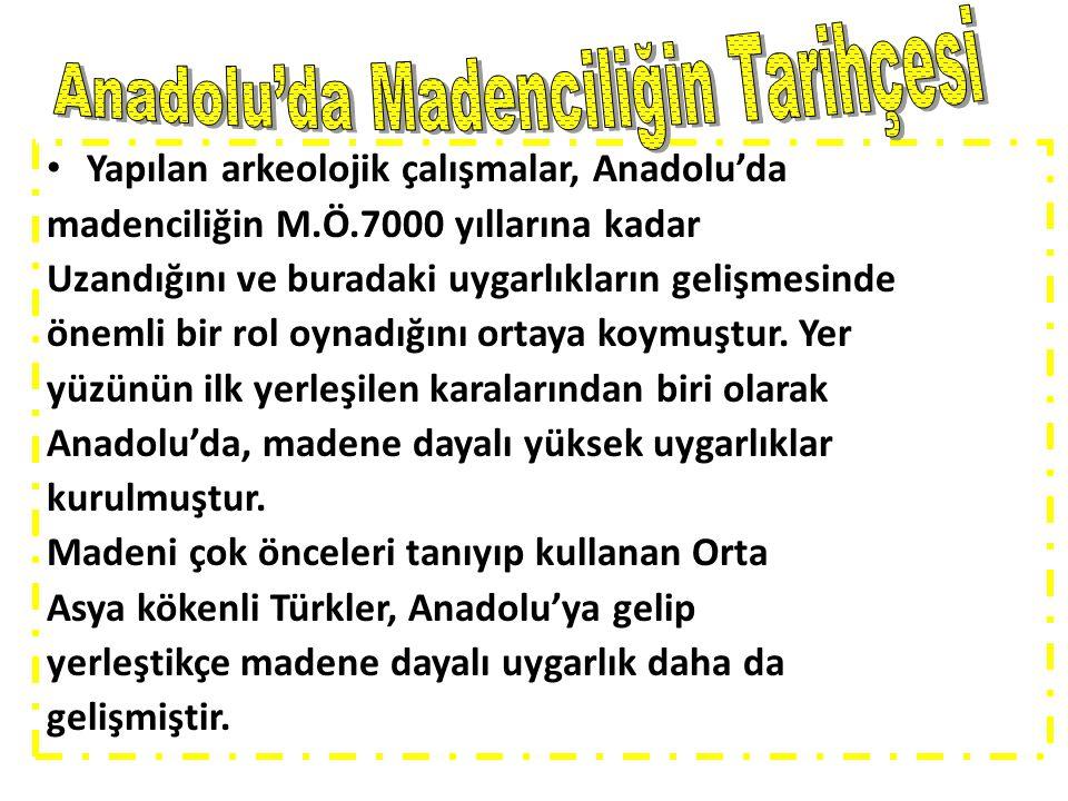 Anadolu'da Madenciliğin Tarihçesi