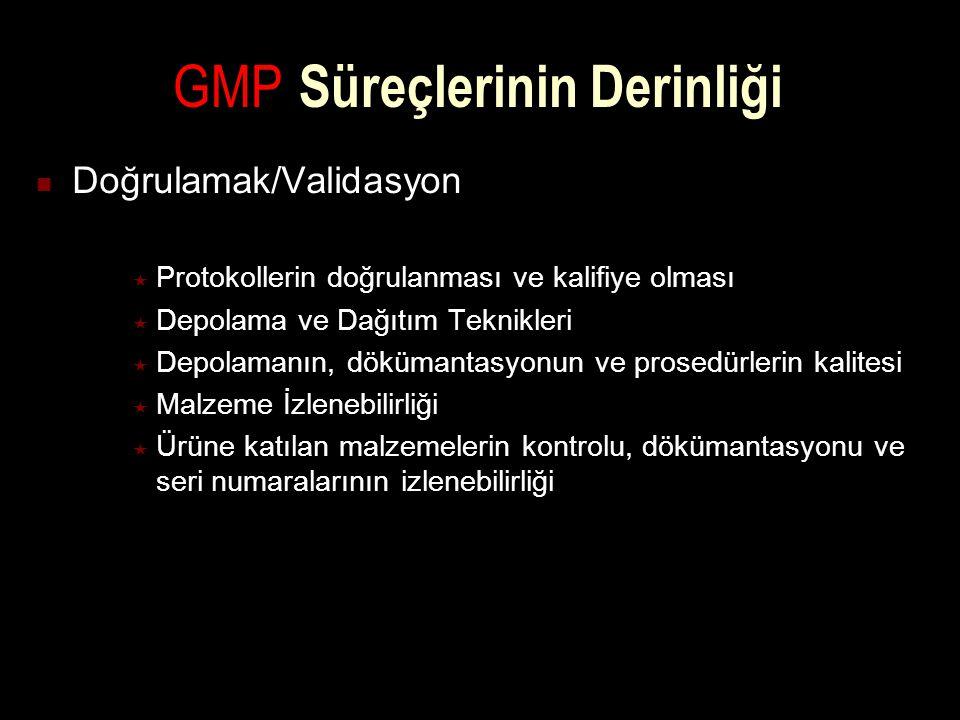 GMP Süreçlerinin Derinliği