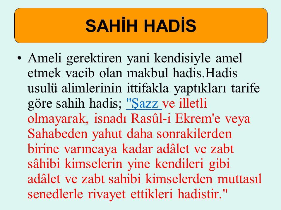 SAHİH HADİS