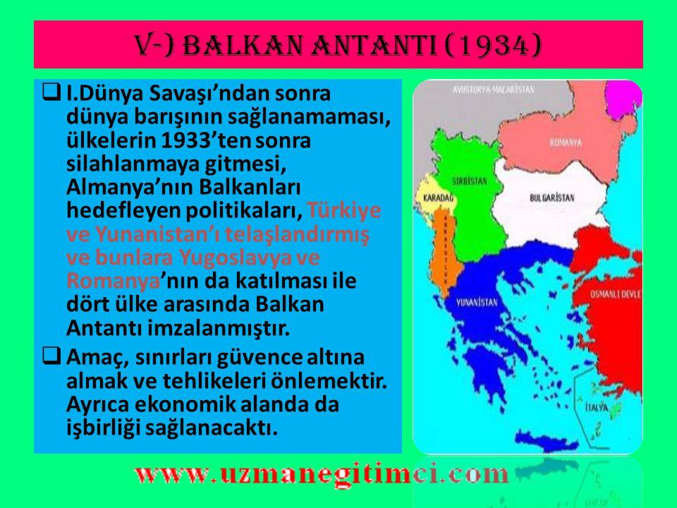 V-) BALKAN ANTANTI (1934)