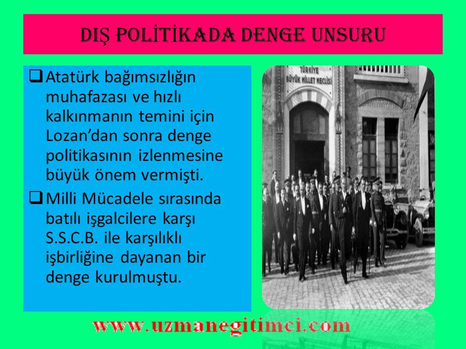DIŞ POLİTİKADA DENGE UNSURU