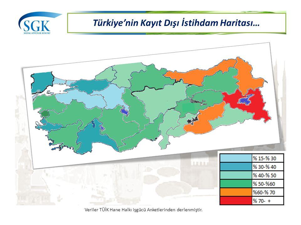 Türkiye'nin Kayıt Dışı İstihdam Haritası…