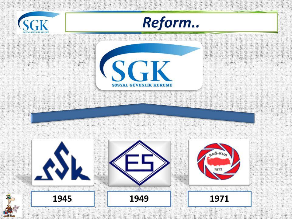 Reform.. 1945 1949 1971