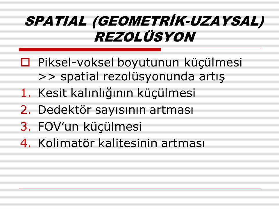 SPATIAL (GEOMETRİK-UZAYSAL) REZOLÜSYON