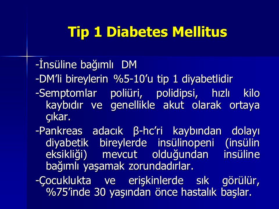 Tip 1 Diabetes Mellitus -İnsüline bağımlı DM