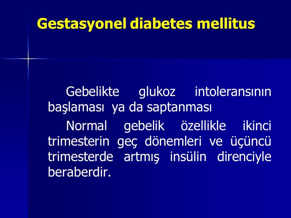 Gestasyonel diabetes mellitus