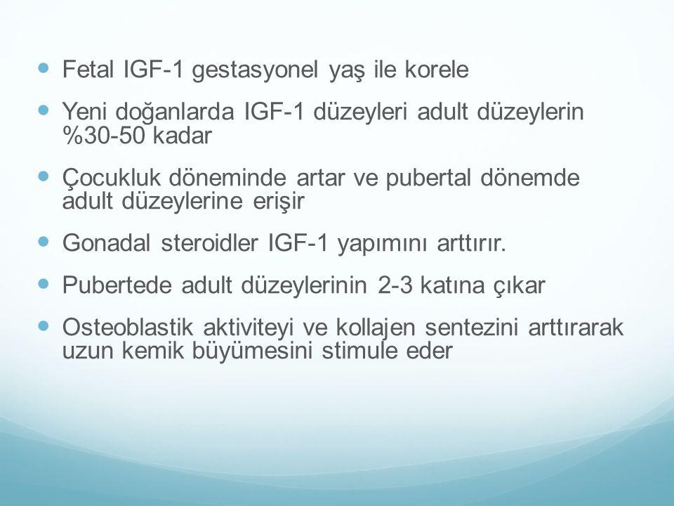 Fetal IGF-1 gestasyonel yaş ile korele