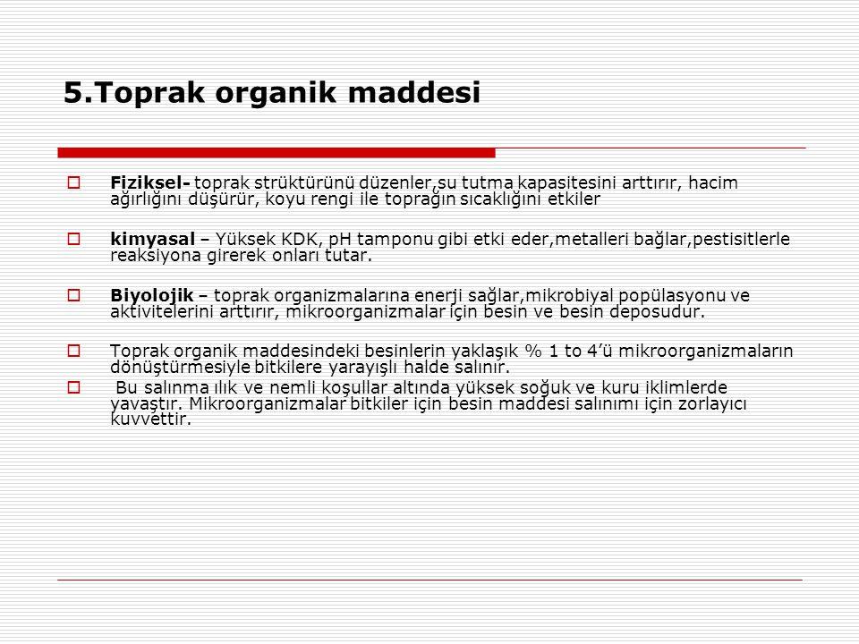 5.Toprak organik maddesi