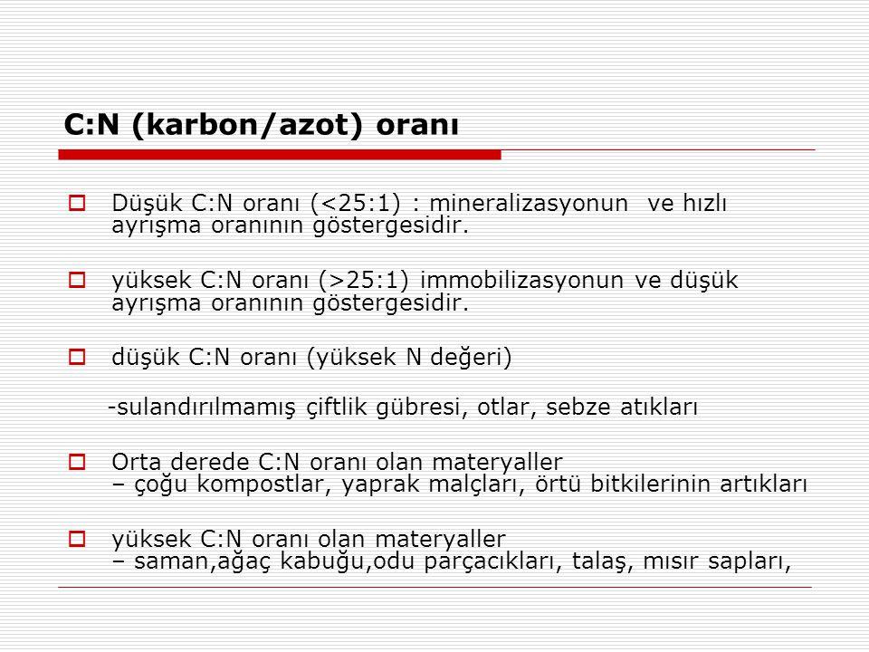 C:N (karbon/azot) oranı