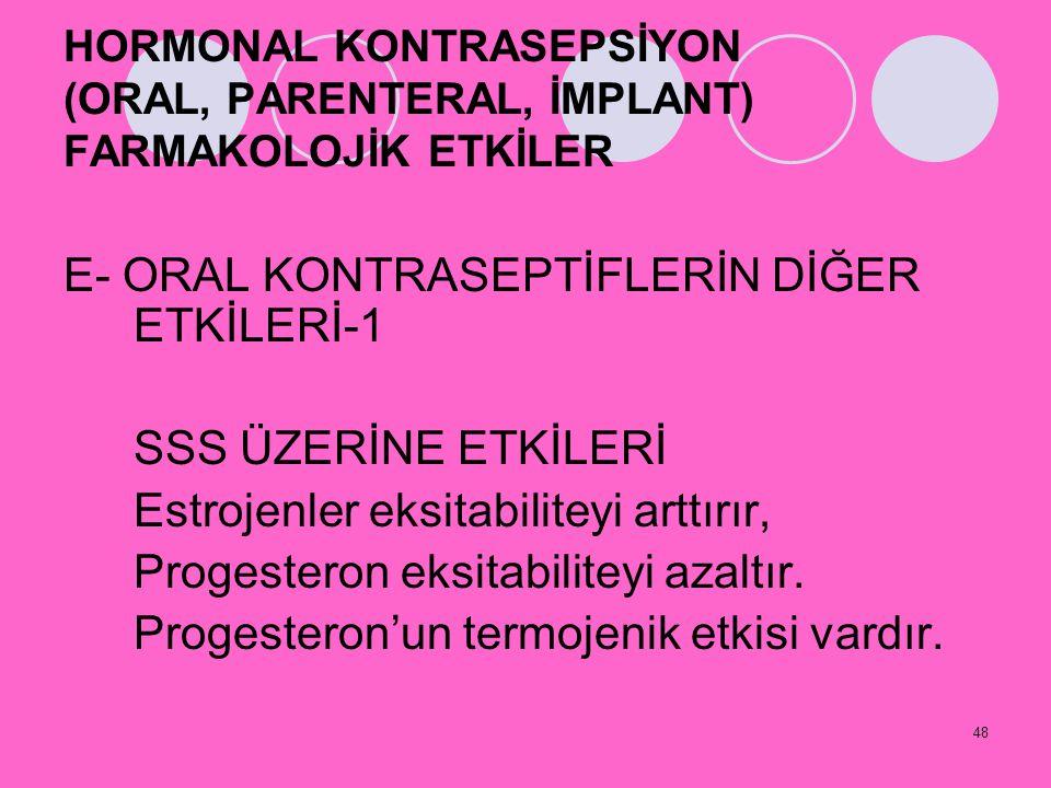 E- ORAL KONTRASEPTİFLERİN DİĞER ETKİLERİ-1