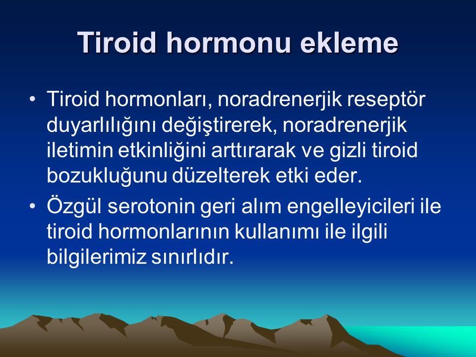 Tiroid hormonu ekleme