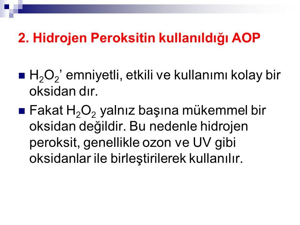 2. Hidrojen Peroksitin kullanıldığı AOP