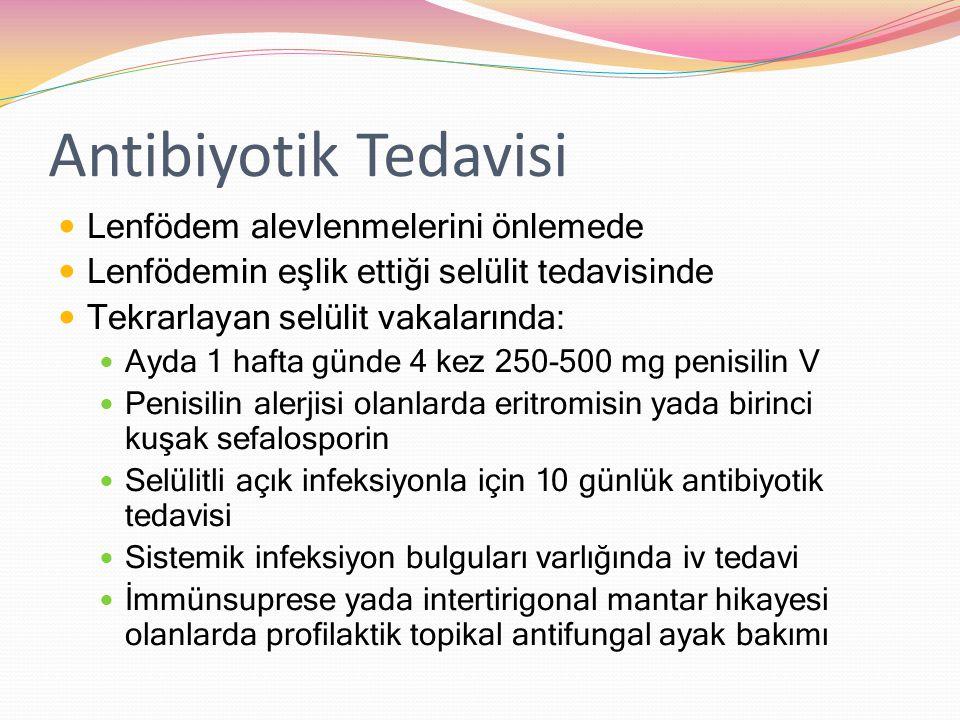 Antibiyotik Tedavisi Lenfödem alevlenmelerini önlemede