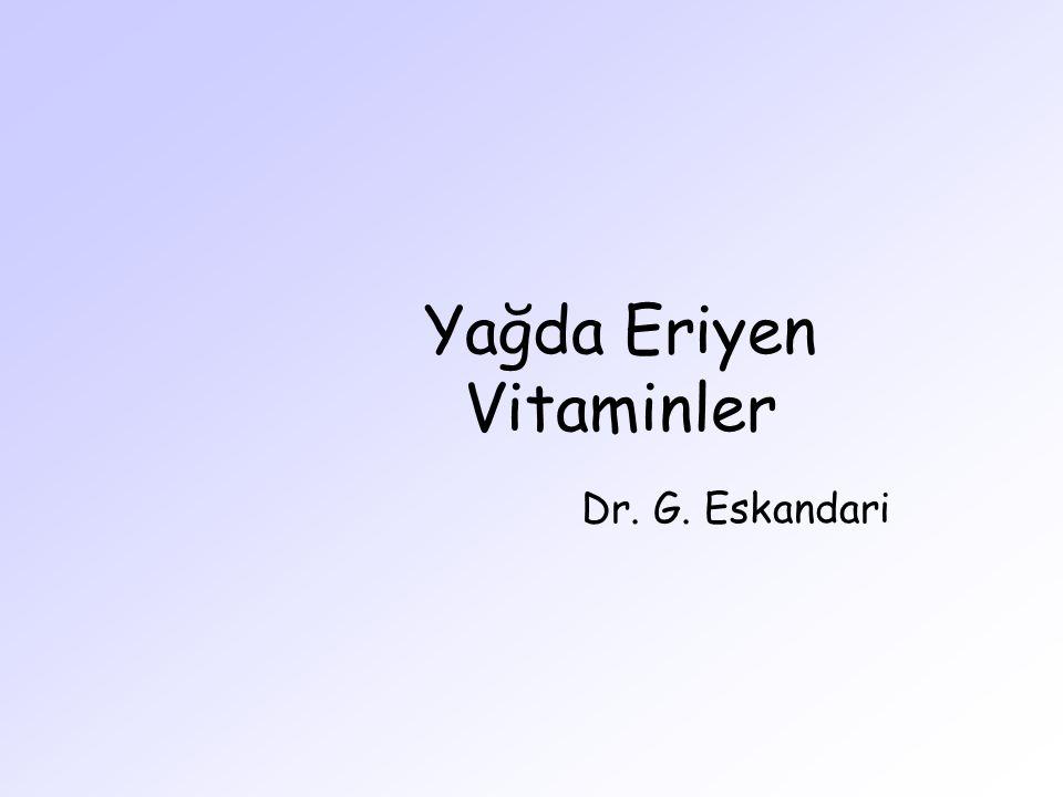 Yağda Eriyen Vitaminler