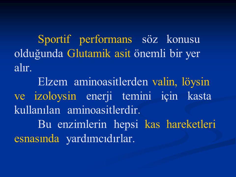 Sportif performans söz konusu olduğunda Glutamik asit önemli bir yer alır.