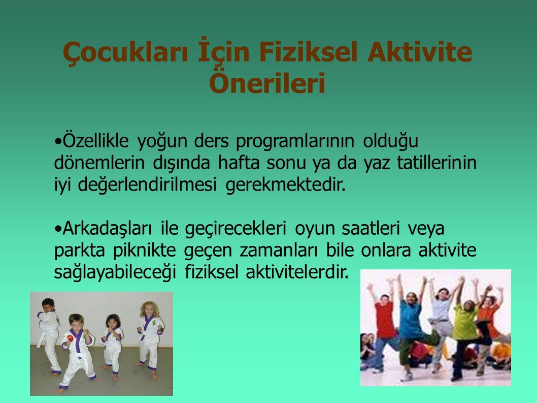 Çocukları İçin Fiziksel Aktivite Önerileri