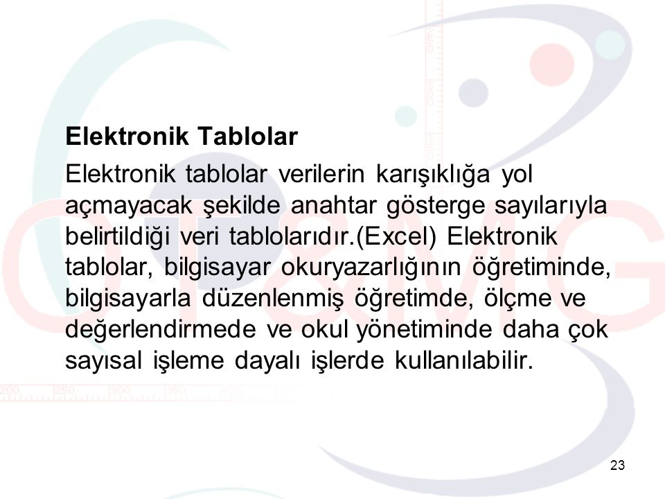 Elektronik Tablolar