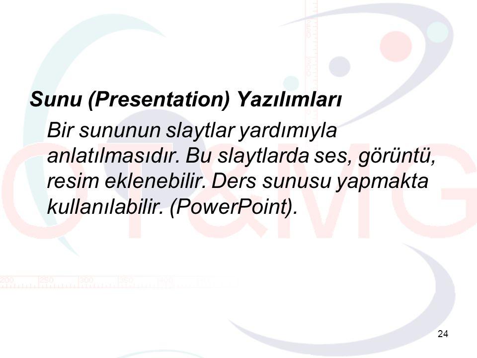 Sunu (Presentation) Yazılımları