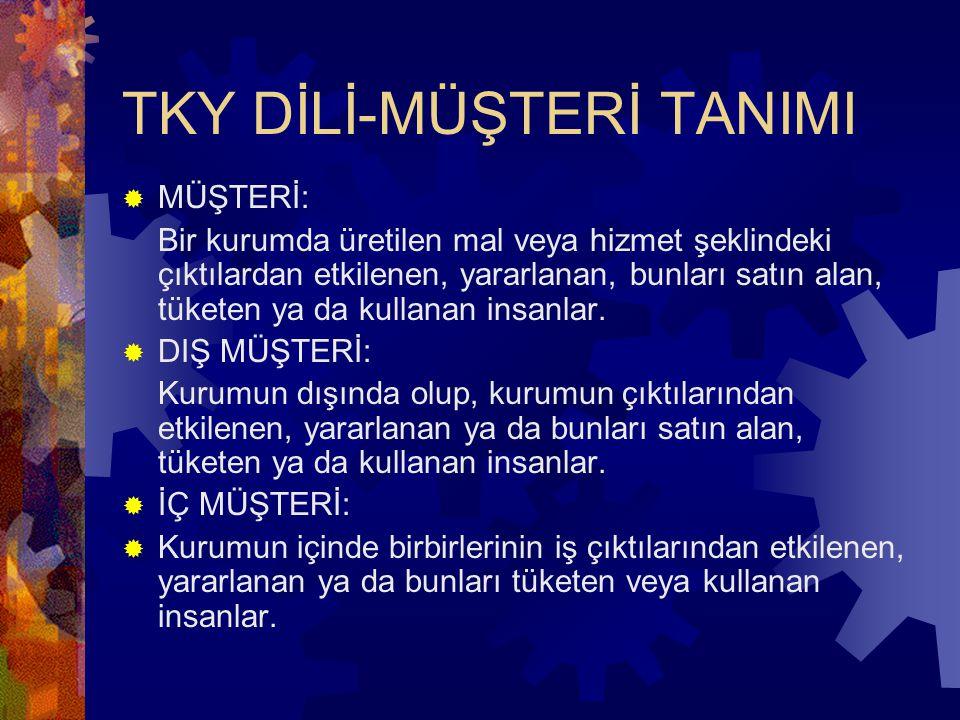 TKY DİLİ-MÜŞTERİ TANIMI