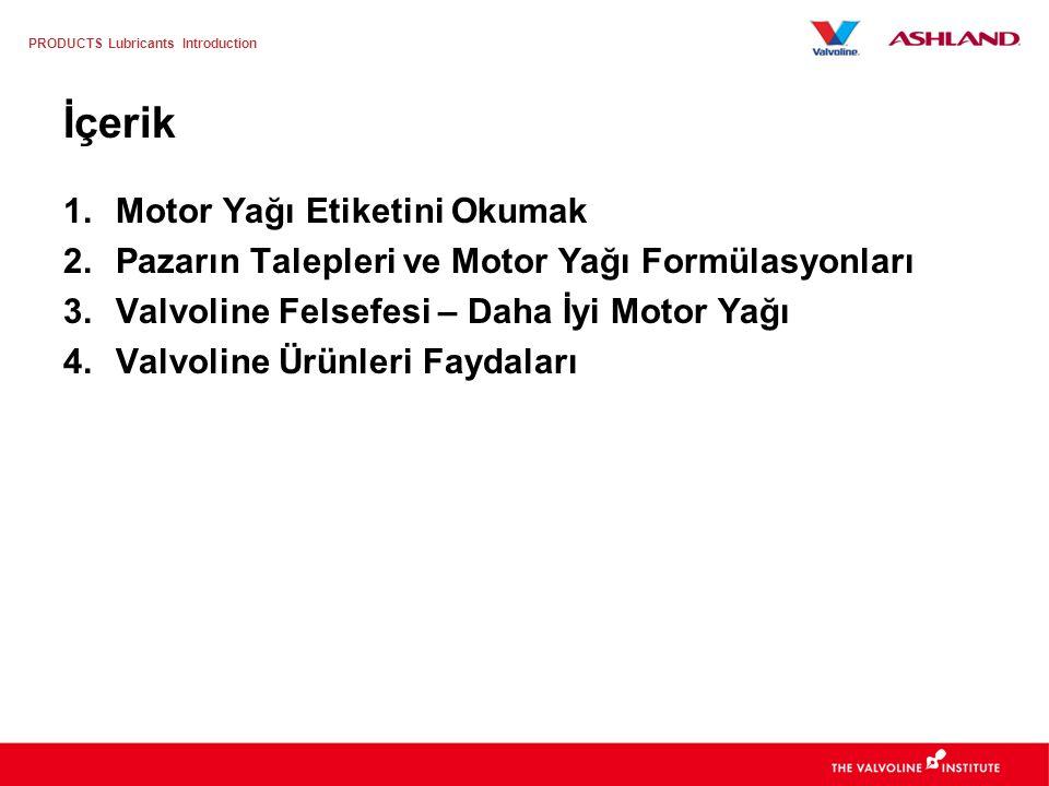 İçerik Motor Yağı Etiketini Okumak