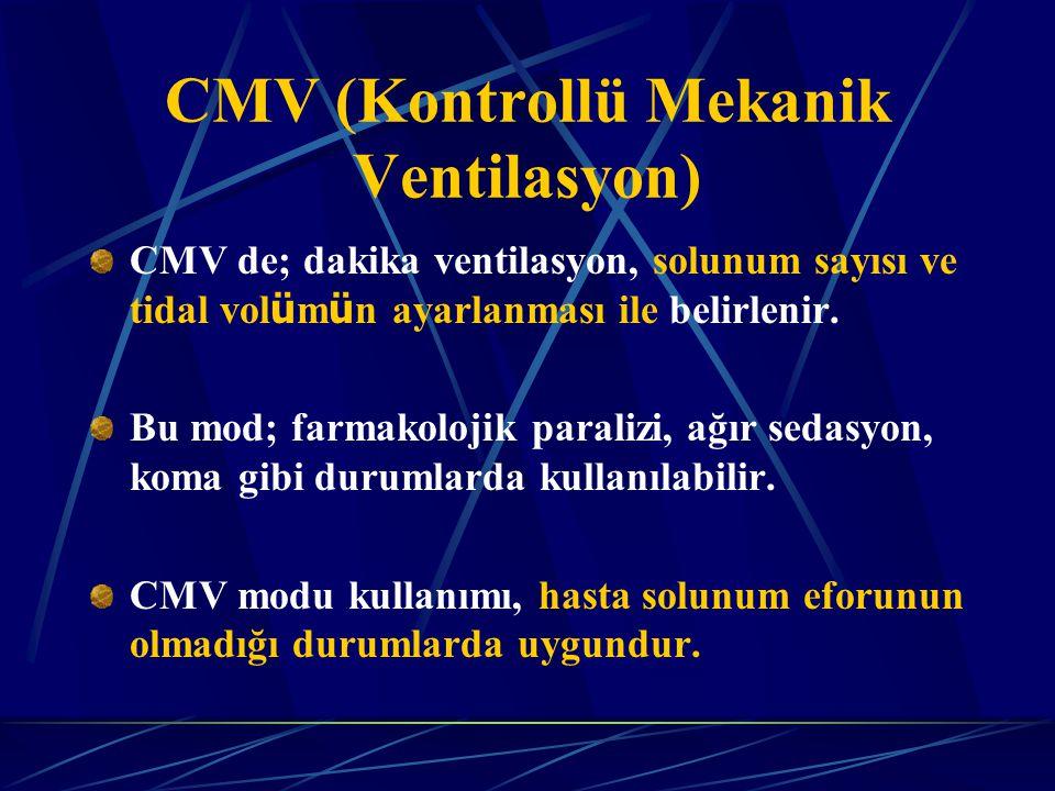 CMV (Kontrollü Mekanik Ventilasyon)