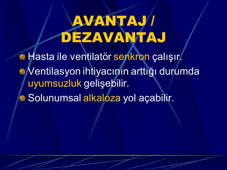 AVANTAJ / DEZAVANTAJ Hasta ile ventilatör senkron çalışır.