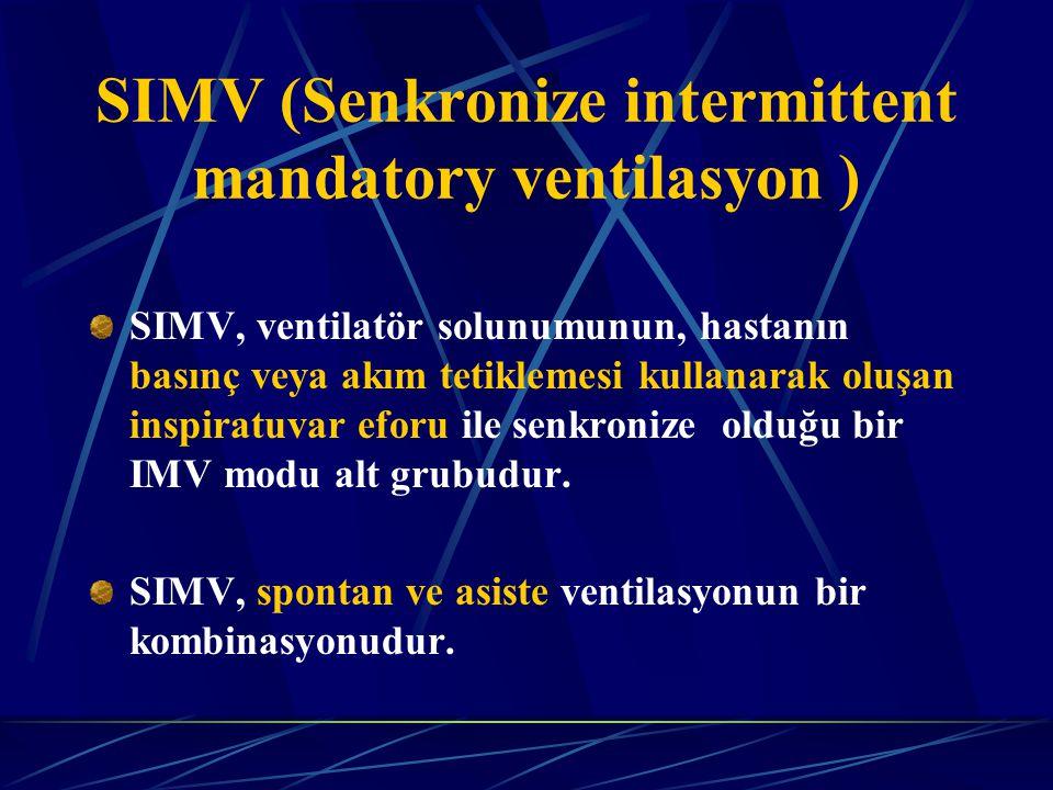 SIMV (Senkronize intermittent mandatory ventilasyon )