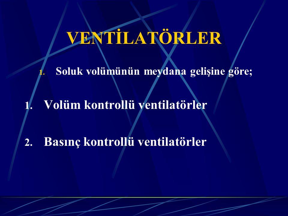 VENTİLATÖRLER Volüm kontrollü ventilatörler