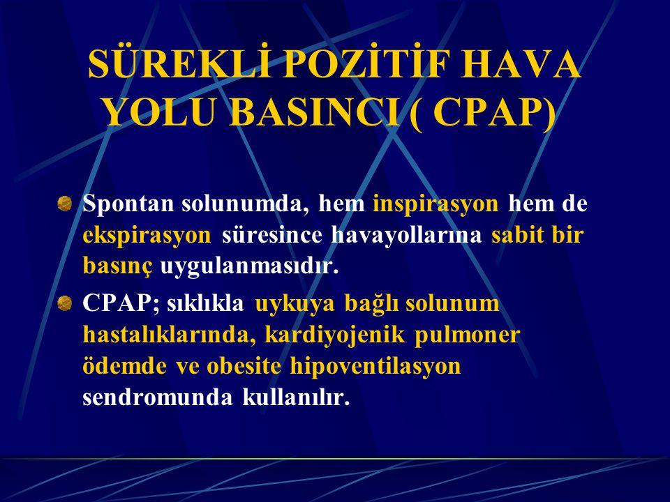 SÜREKLİ POZİTİF HAVA YOLU BASINCI ( CPAP)