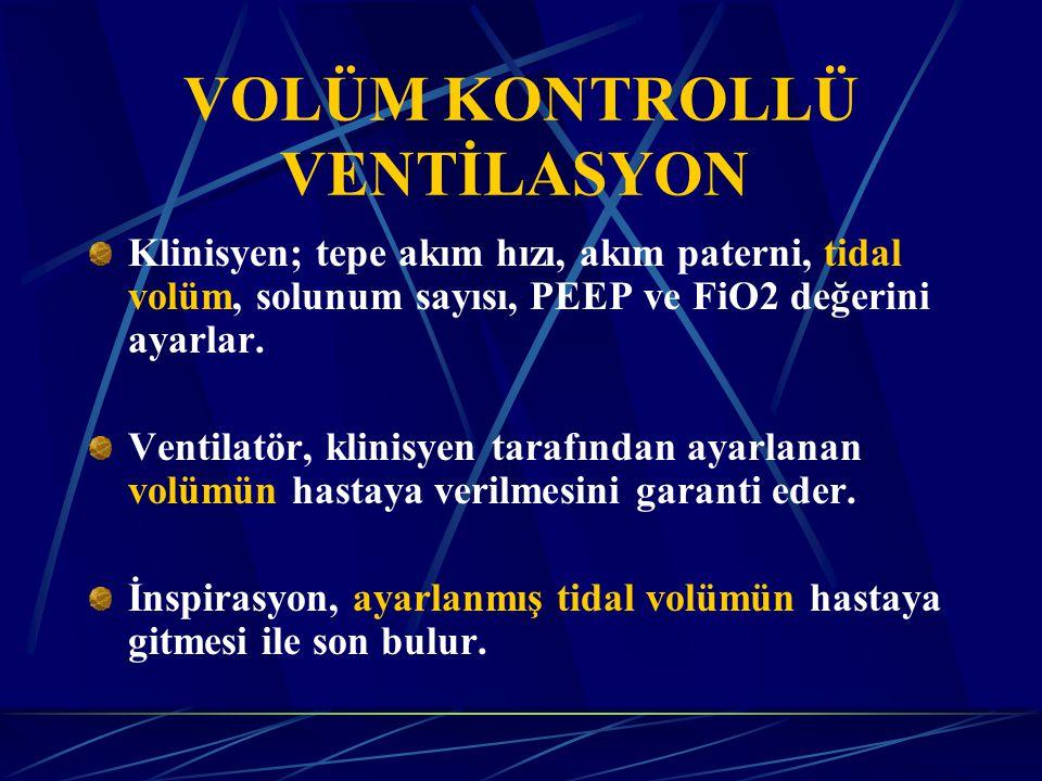 VOLÜM KONTROLLÜ VENTİLASYON