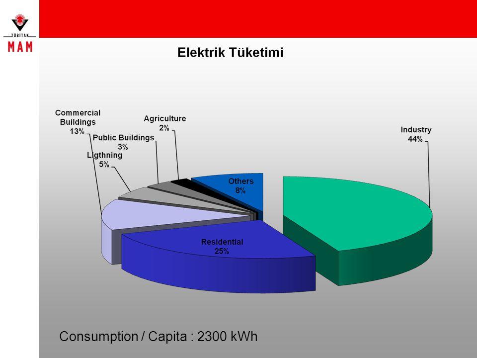 Consumption / Capita : 2300 kWh