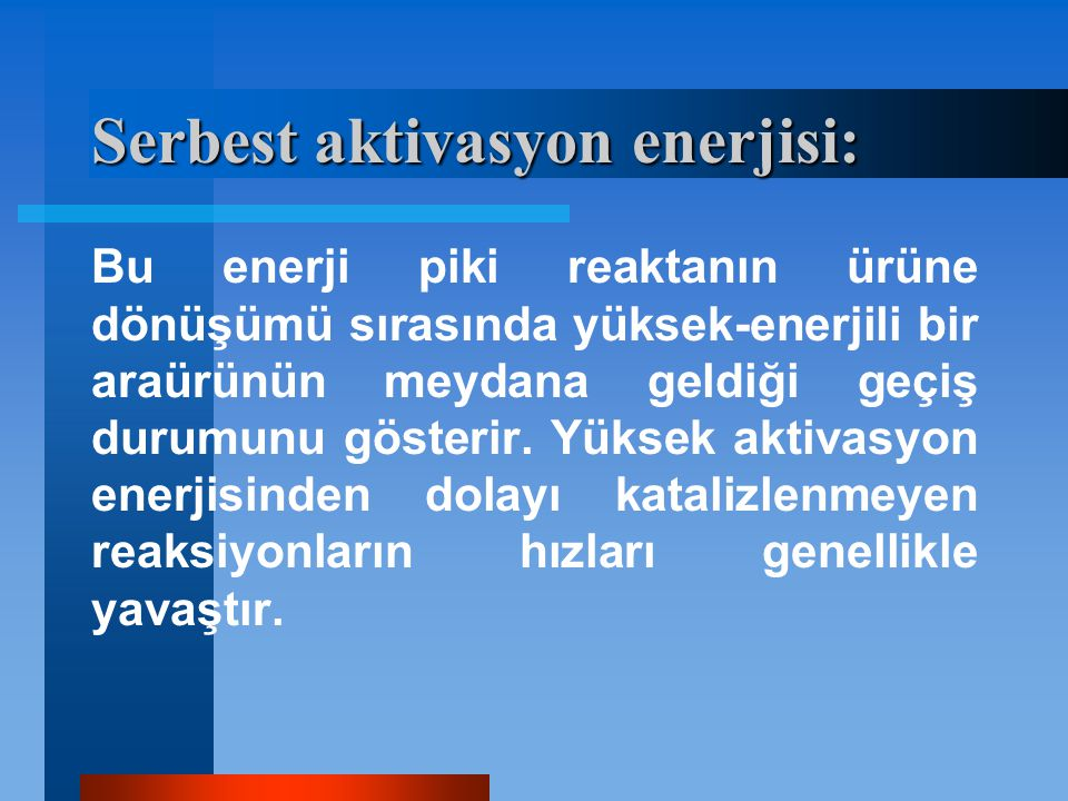 Serbest aktivasyon enerjisi: