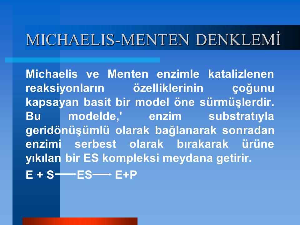 MICHAELIS-MENTEN DENKLEMİ