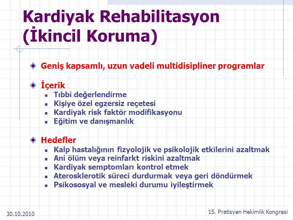 Kardiyak Rehabilitasyon (İkincil Koruma)