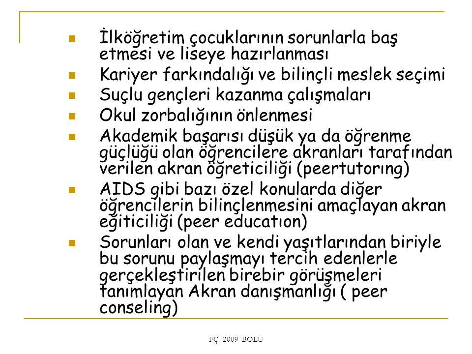 İlköğretim çocuklarının sorunlarla baş etmesi ve liseye hazırlanması