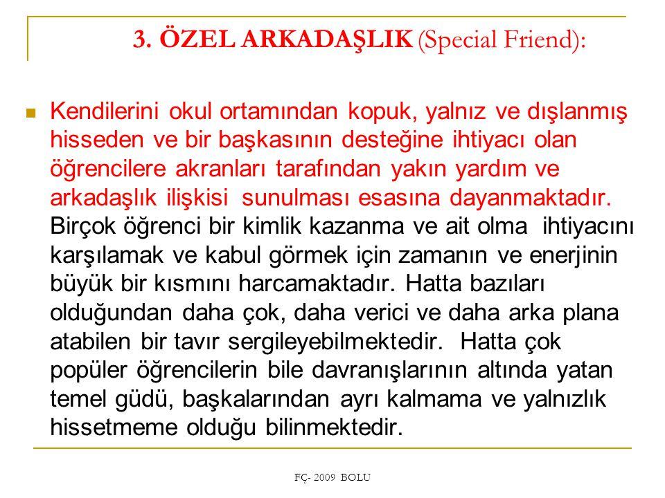 3. ÖZEL ARKADAŞLIK (Special Friend):